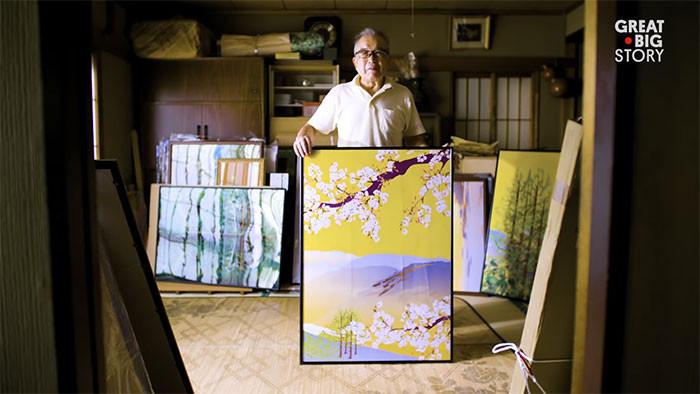▲▼日本老爺爺用Excel繪出精美畫作。(圖/翻攝自堀内辰男のホームページ)