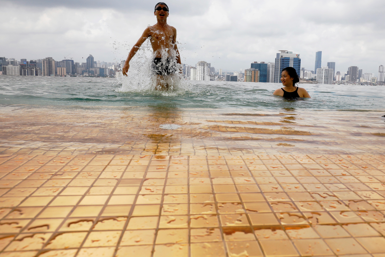 ▲▼越南金湖飯店Dolce Hanoi Golden Lake luxury hotel(圖/路透社)