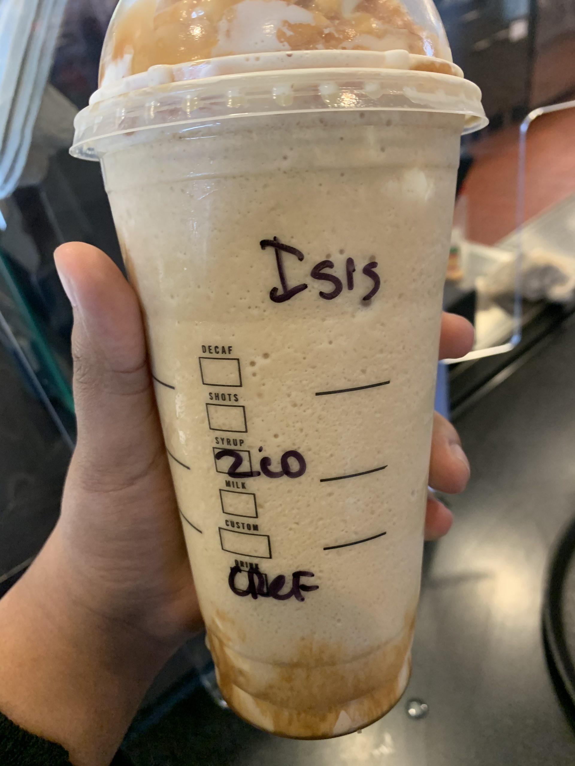 ▲▼一位穆斯林女子反應自己的咖啡杯上被寫上ISIS,星巴克店員涉歧視。(圖/翻攝自CAIR官網)