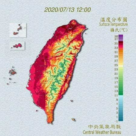熱到發紫!台北飆「38.9°C極端高溫」創歷年7月最熱 不排除下午熱破39°C