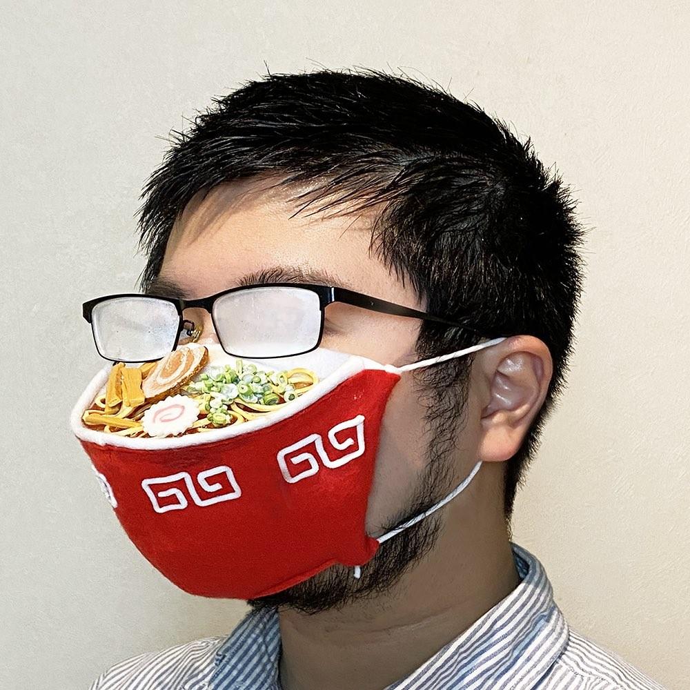 ▲▼眼鏡專用口罩,起霧完全合理(圖/翻攝自twitter/@iine_piroshiki)