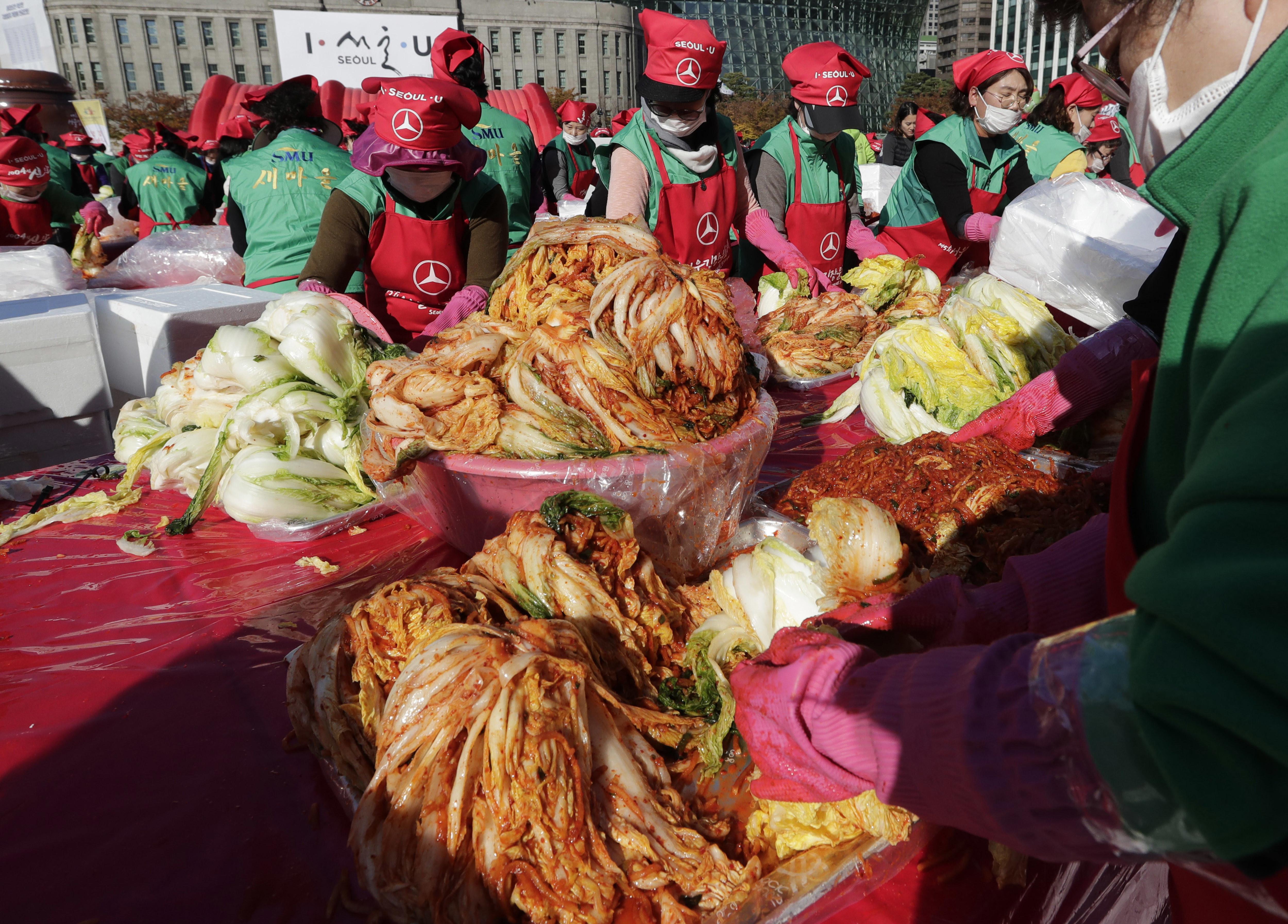 ▲▼法國研究,吃韓式泡菜等發酵食品可對抗新冠病毒。(圖/達志影像/美聯社)