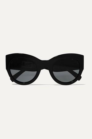 Versace 水晶装饰猫眼墨镜