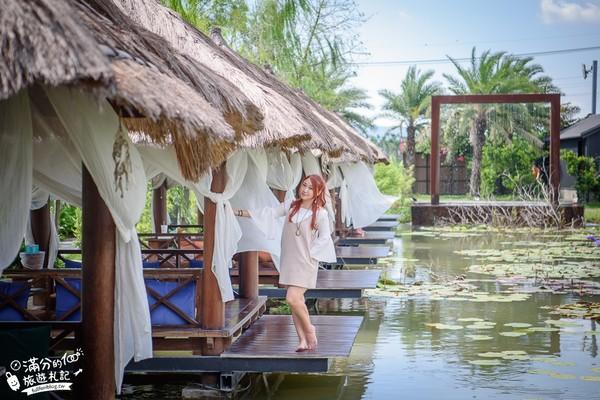 茅草屋中吃蝦!屏東峇里島風活蝦餐廳 翠綠池塘+落羽松超浪漫 | ETto