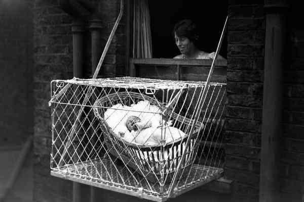 大檸檬用圖(圖/19世紀「嬰兒籠」育嬰法)