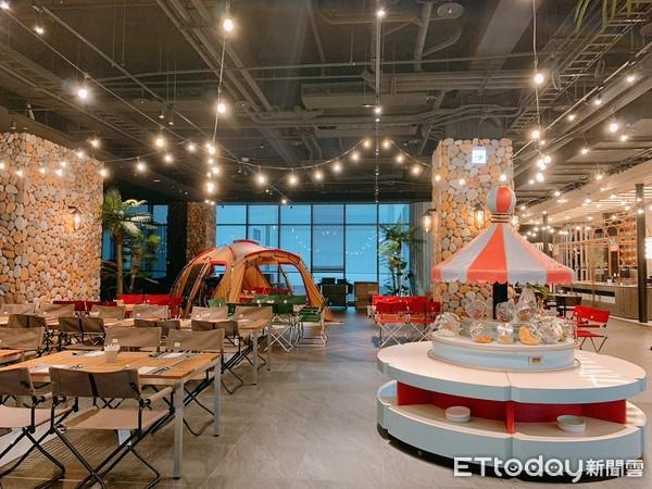 桃園新開飯店「COZZI Blu」3大美食亮點!超好拍吃到飽露營區 4人