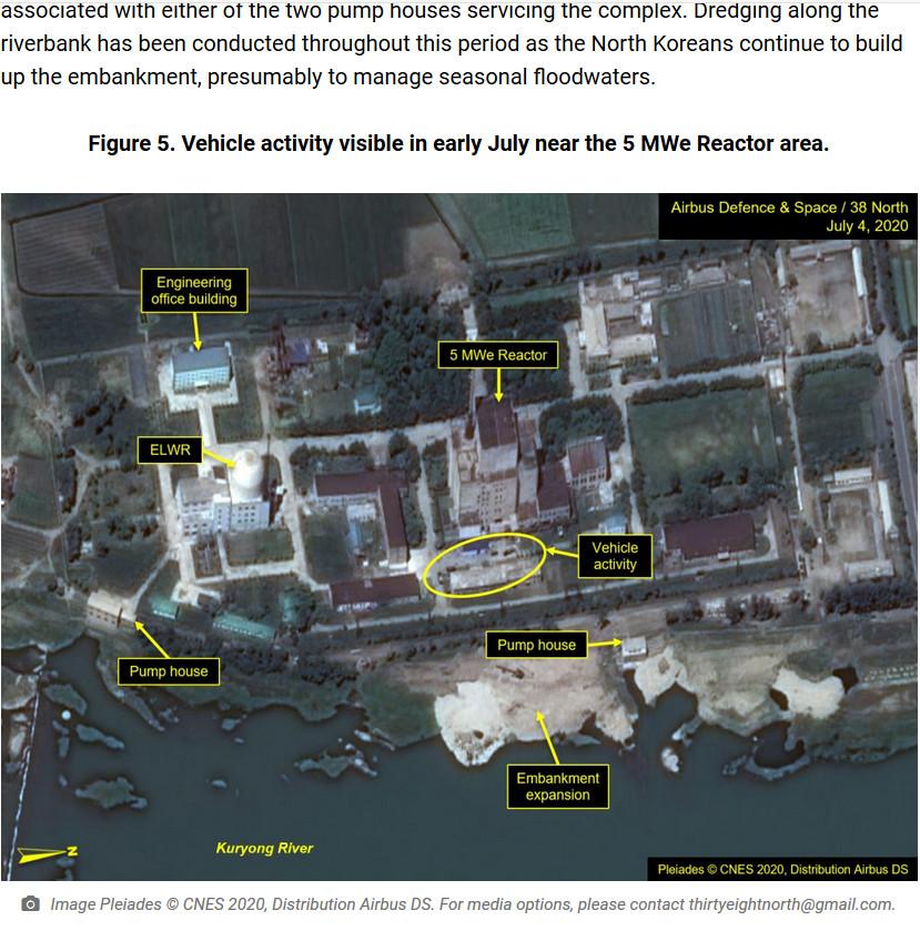 ▲▼美智庫指出,北韓寧邊核武設施有車輛定期進出。(圖/翻攝自38 North)