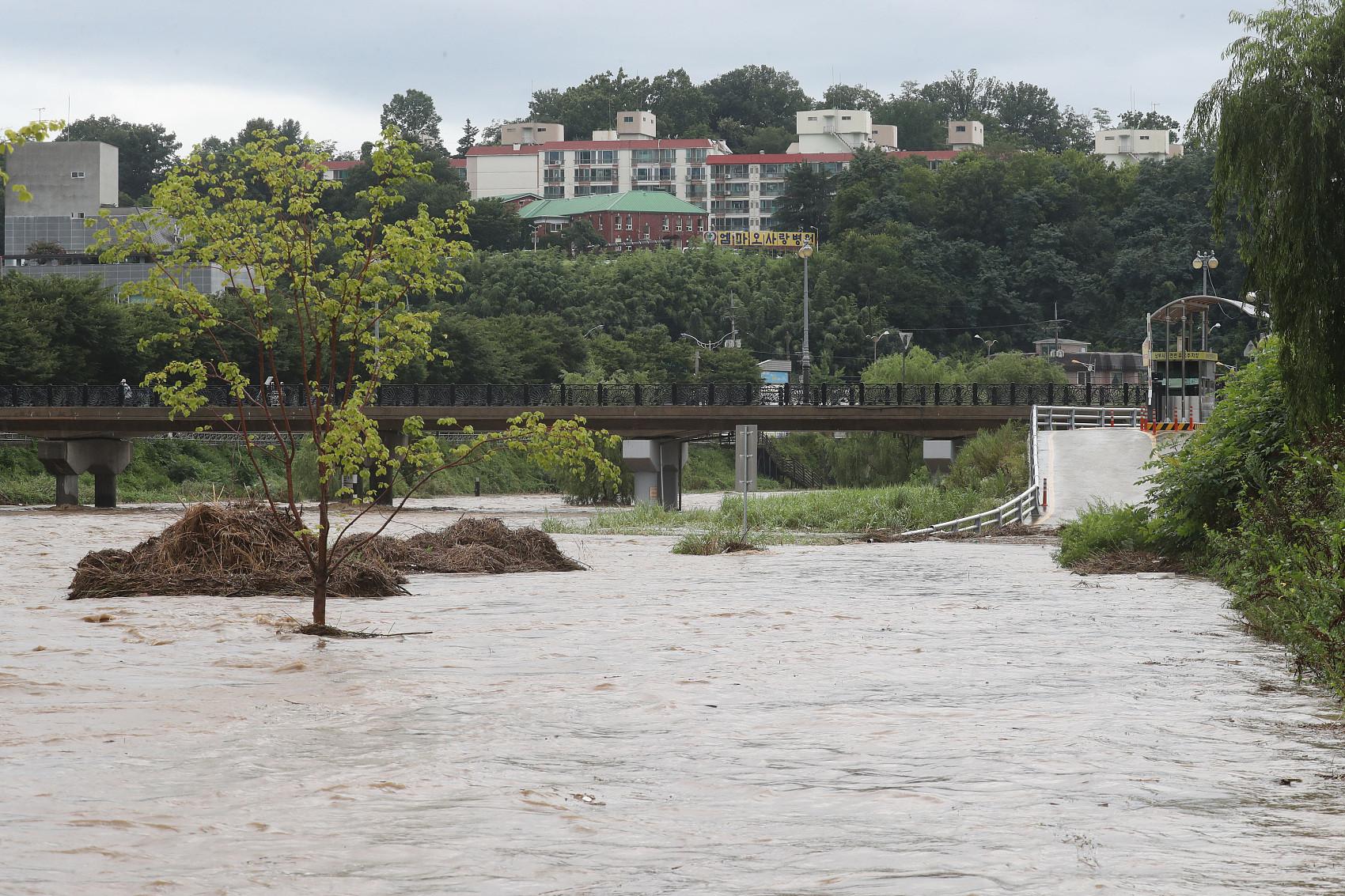 ▲▼南韓光州、全羅南道等地29日降下暴雨。(圖/CFP)