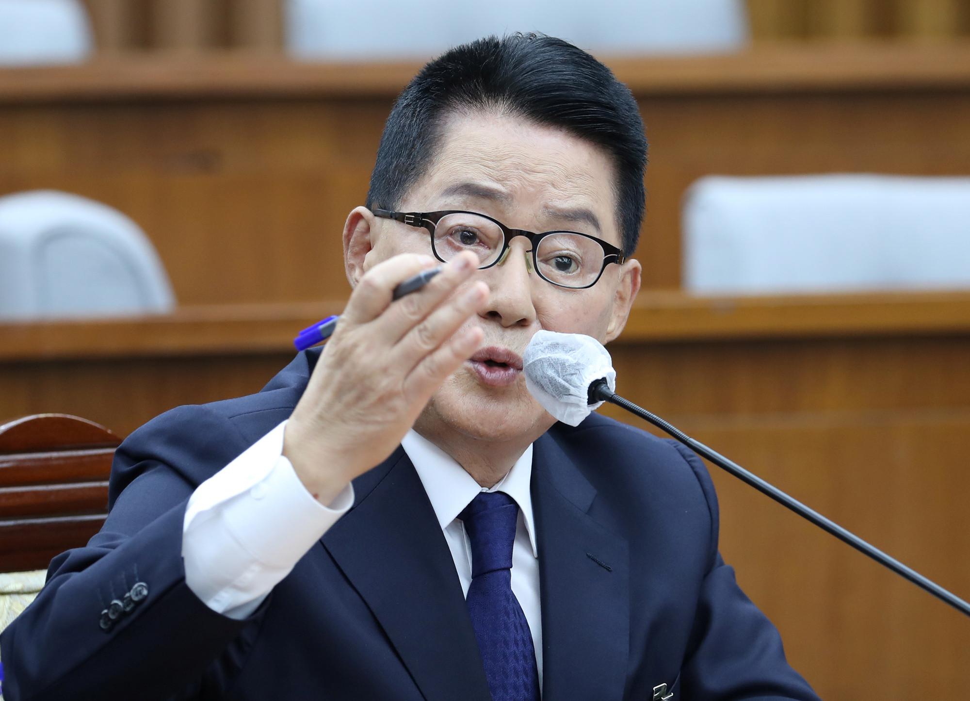 ▲▼南韓國家情報院長朴智元(圖/路透社)