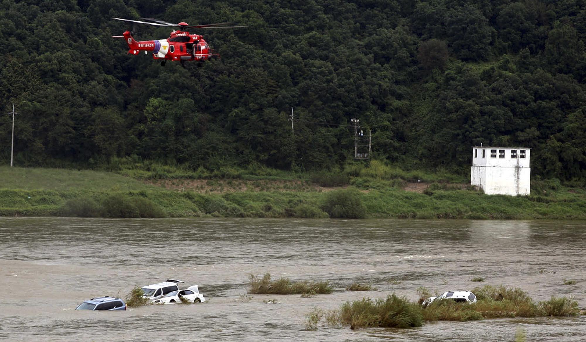▲▼北韓2009年未事前通報,打開黃江大壩洩洪,造成南韓6人死亡。(圖/達志影像/美聯社)