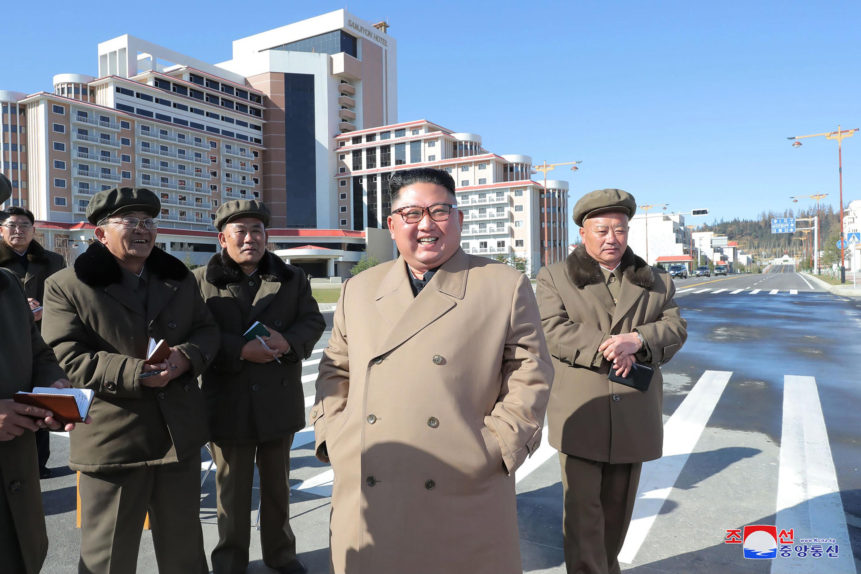 ▲▼北韓預計10月10日勞動黨75周年,完成三池淵市建設工作。(圖/達志影像/美聯社)