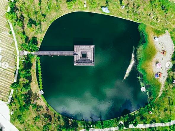 抹茶湖小迷宮步道、台灣形狀池塘 台中3座可愛綠湖水打卡景點
