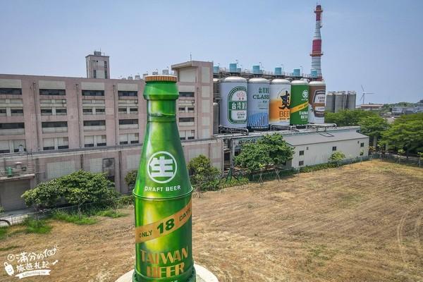 酒鬼們快衝!苗栗啤酒廠免費參觀 6層樓高巨型啤酒罐排排站
