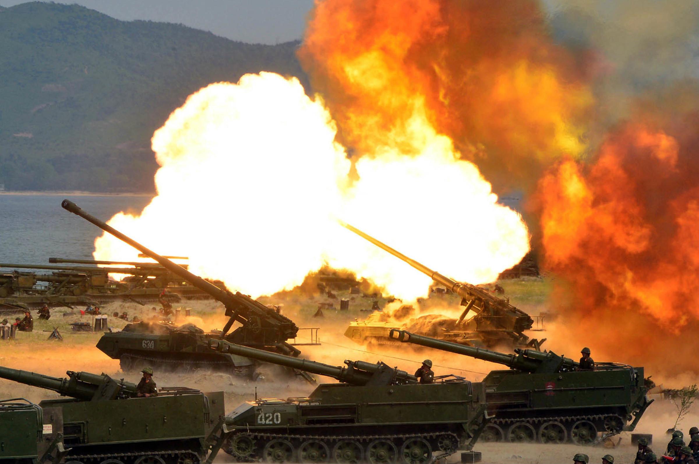 ▲▼北韓曾揚言開砲攻擊首爾、燒成火海,美國智庫分析極有可能發生。(圖/達志影像/美聯社)