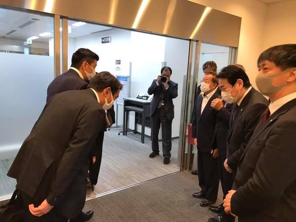 日本弔唁團14時33分降落松機 森喜朗一行16時會晤總統蔡英文