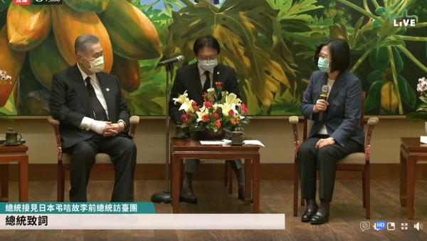 LIVE/日本前首相森喜朗率團來台弔唁李登輝 蔡英文親自接見