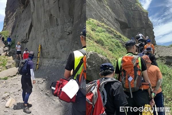 5男1女揪爬鼻頭角秘境「不敢下山」!16消防員衝現場救人