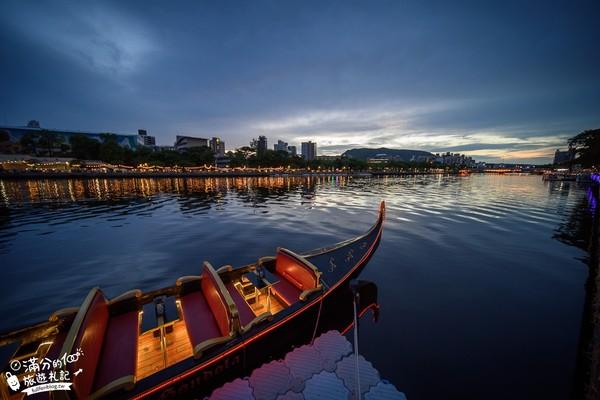 秒飛威尼斯!高雄愛河划小船看夜景 還有船夫唱歌超浪漫