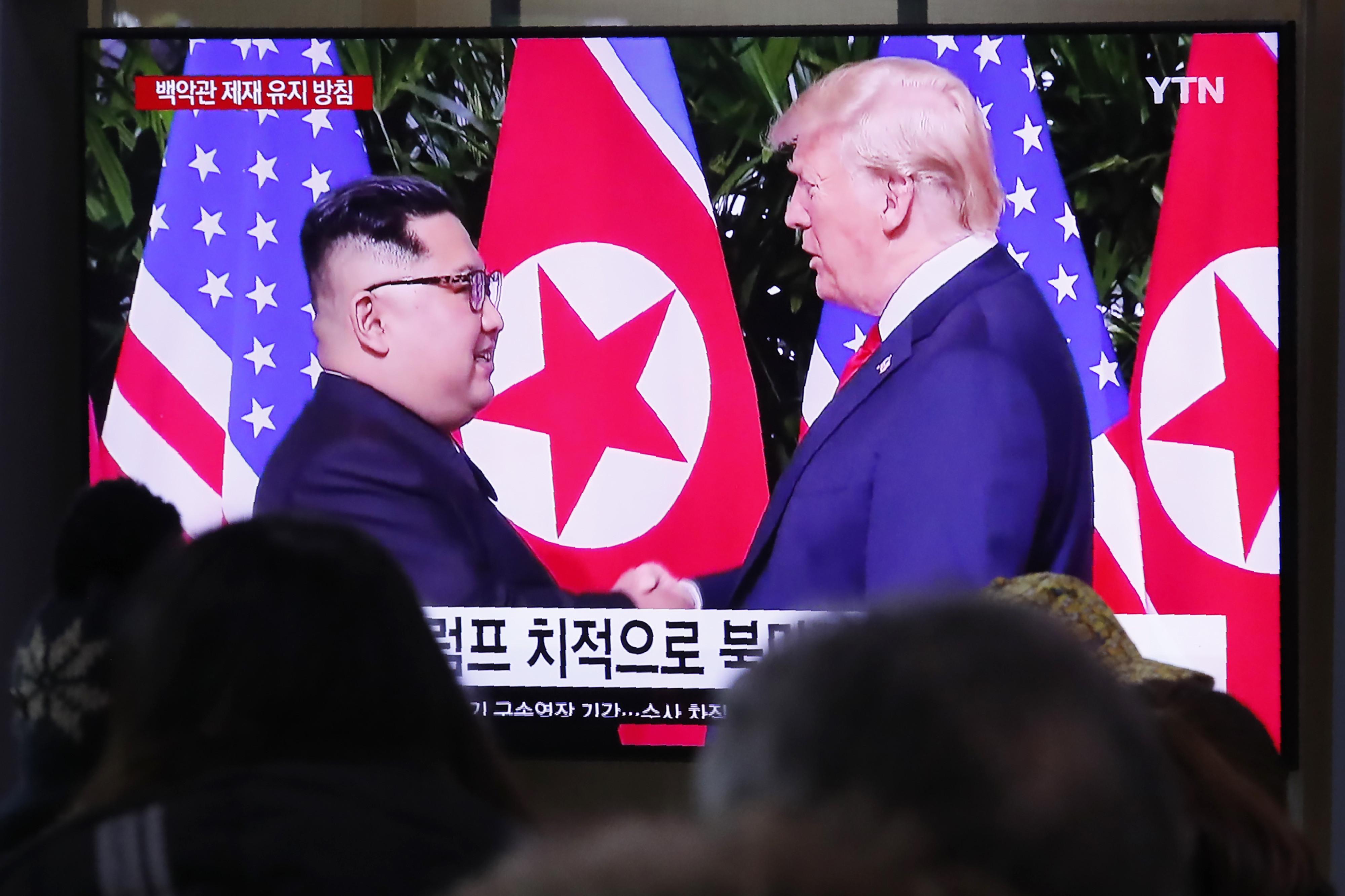 ▲▼北韓當局曾在寄給川普的信函中,提起對美韓軍演的不滿。(圖/達志影像/美聯社)