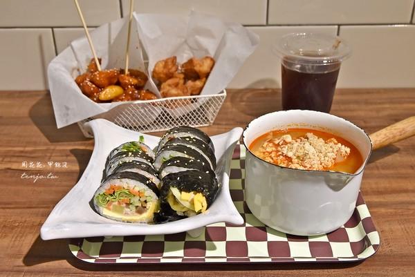 飯捲咬開爆出麻油香!台北平價韓料小店 豆腐鍋料多湯清甜