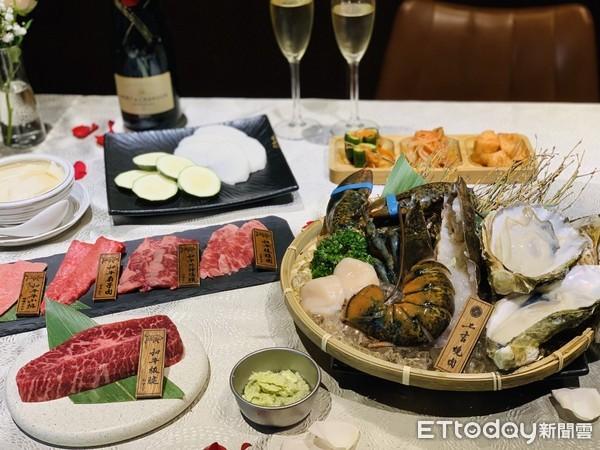 爽嗑極稀有和牛、波士頓龍蝦!東區燒肉店打造浪漫情人節 還送香檳、玫瑰花