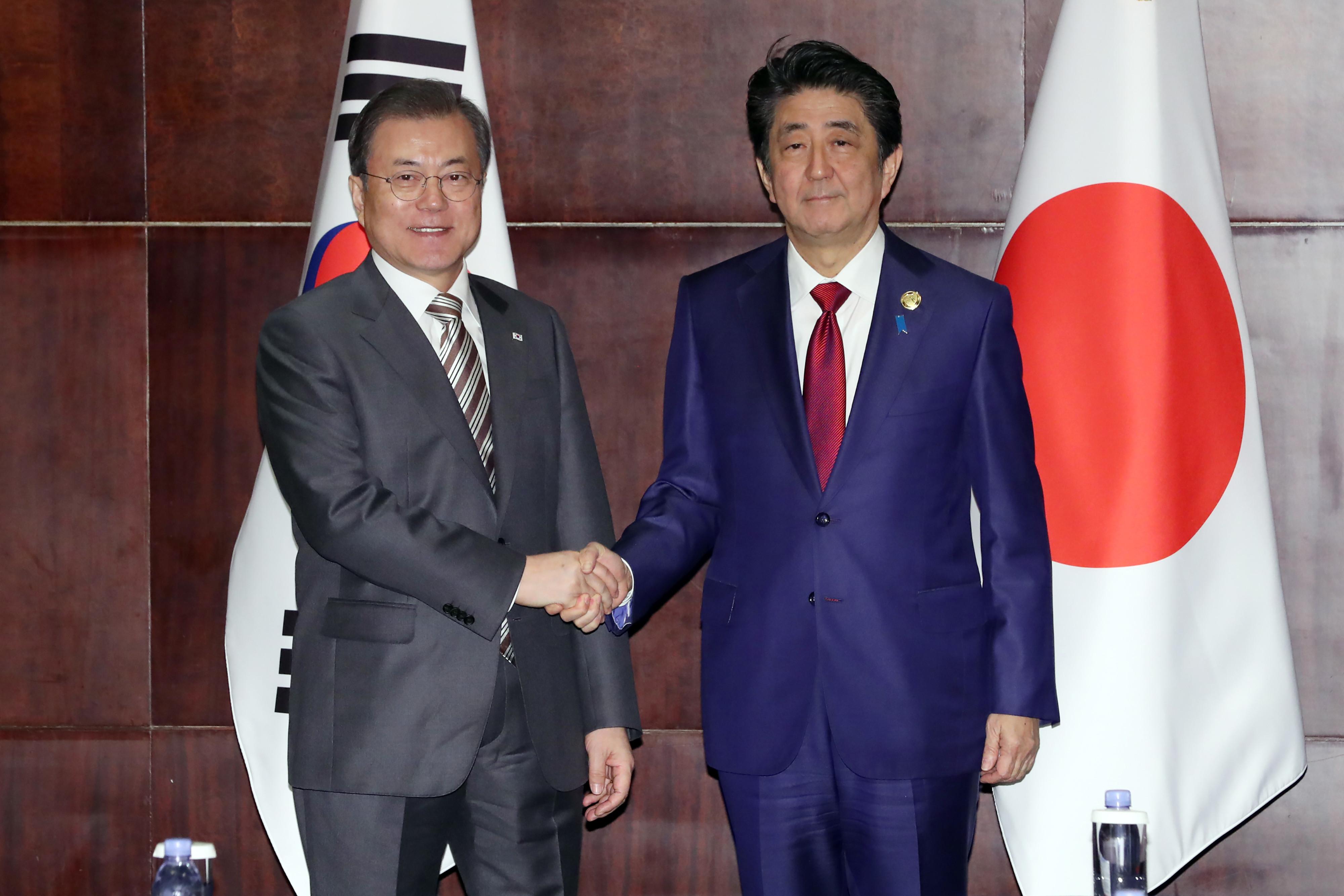 ▲▼日本外務省高層針對文在寅談話表示,韓政府應提出具體解決方案。(圖/達志影像)