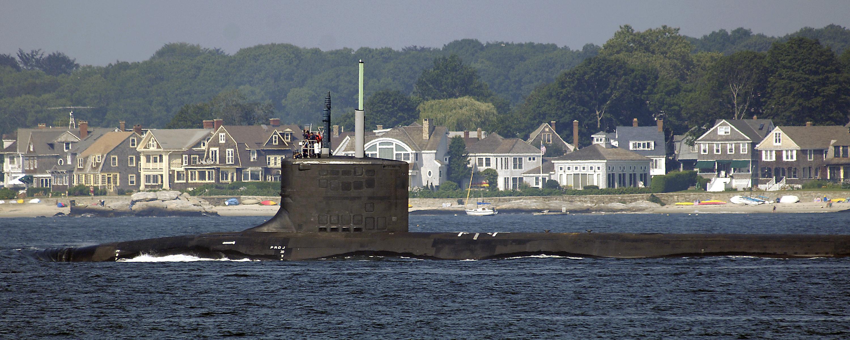 美國維吉尼亞級核動力攻擊潛艇新罕布夏號(SSN-778)。(圖/達志影像/美聯社)