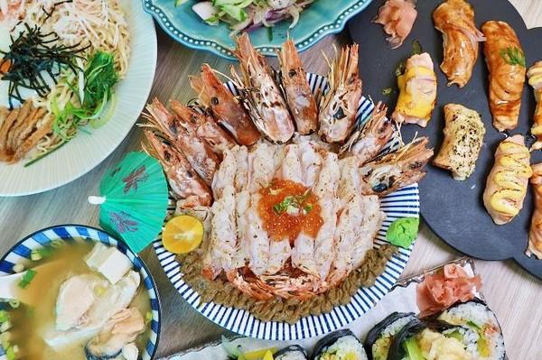 9隻天使紅蝦+鮭魚卵鋪滿飯上!台南巷弄日料 鮮蚵沙拉超邪惡