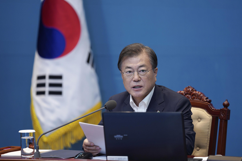 ▲▼南韓總統文在寅表示,要依照原則、法律強烈嚴懲罷工醫師。(資料照/達志影像/美聯社)