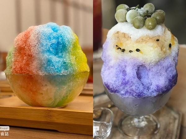 夏天就要吃刨冰!火龍果鳳梨、蝶豆花加葡萄 五顏六色的「彩虹冰品」超好拍