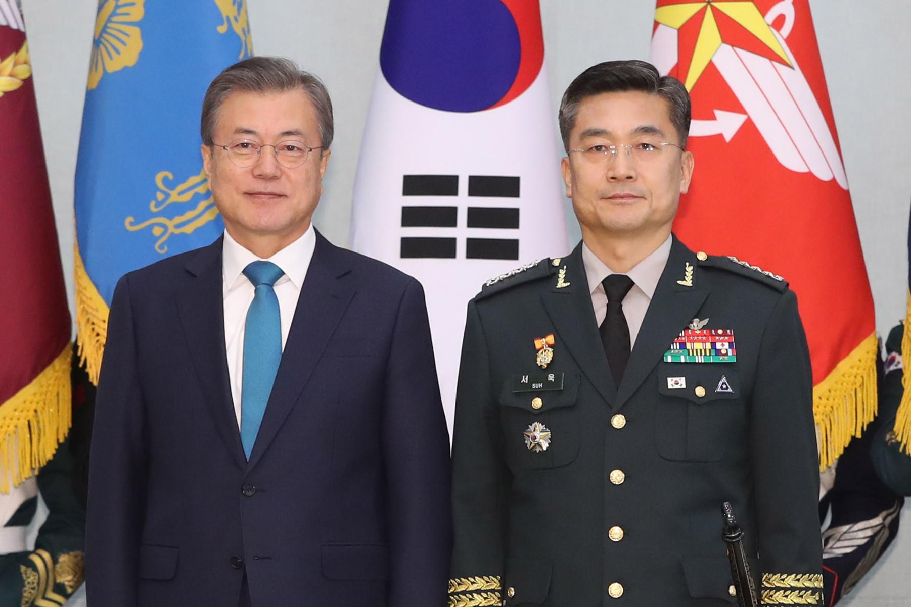 ▲▼南韓總統文在寅任命陸軍參謀徐旭為新任國防部長。(圖/達志影像)
