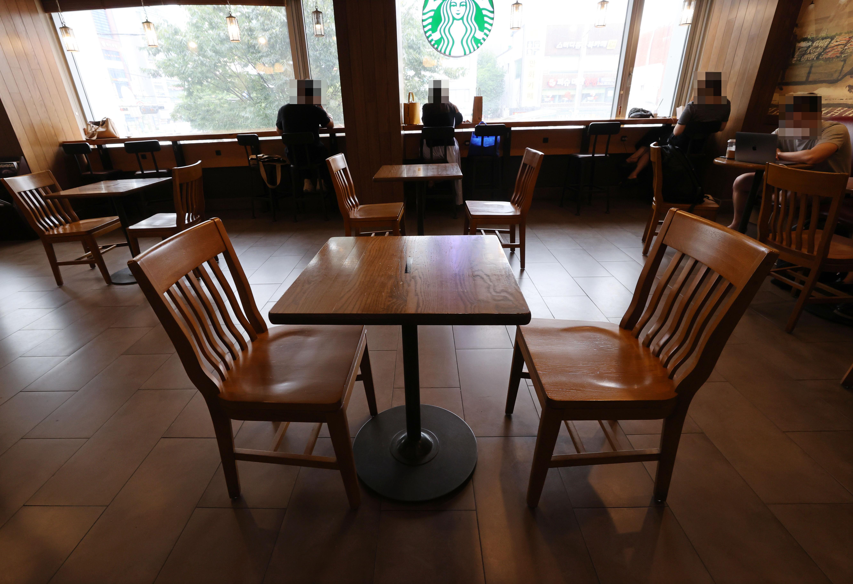 ▲▼南韓首都圈防疫標準升級,咖啡廳只允許外帶、外送。(圖/達志影像)