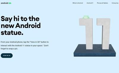 Android 11上線!Google AR雕像暗藏「甜點命名」小彩蛋