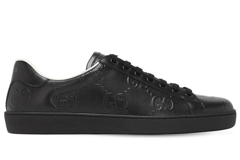 ▲GUCCI New Ace GG壓紋球鞋。(圖/翻攝自Luisaviaroma.com)