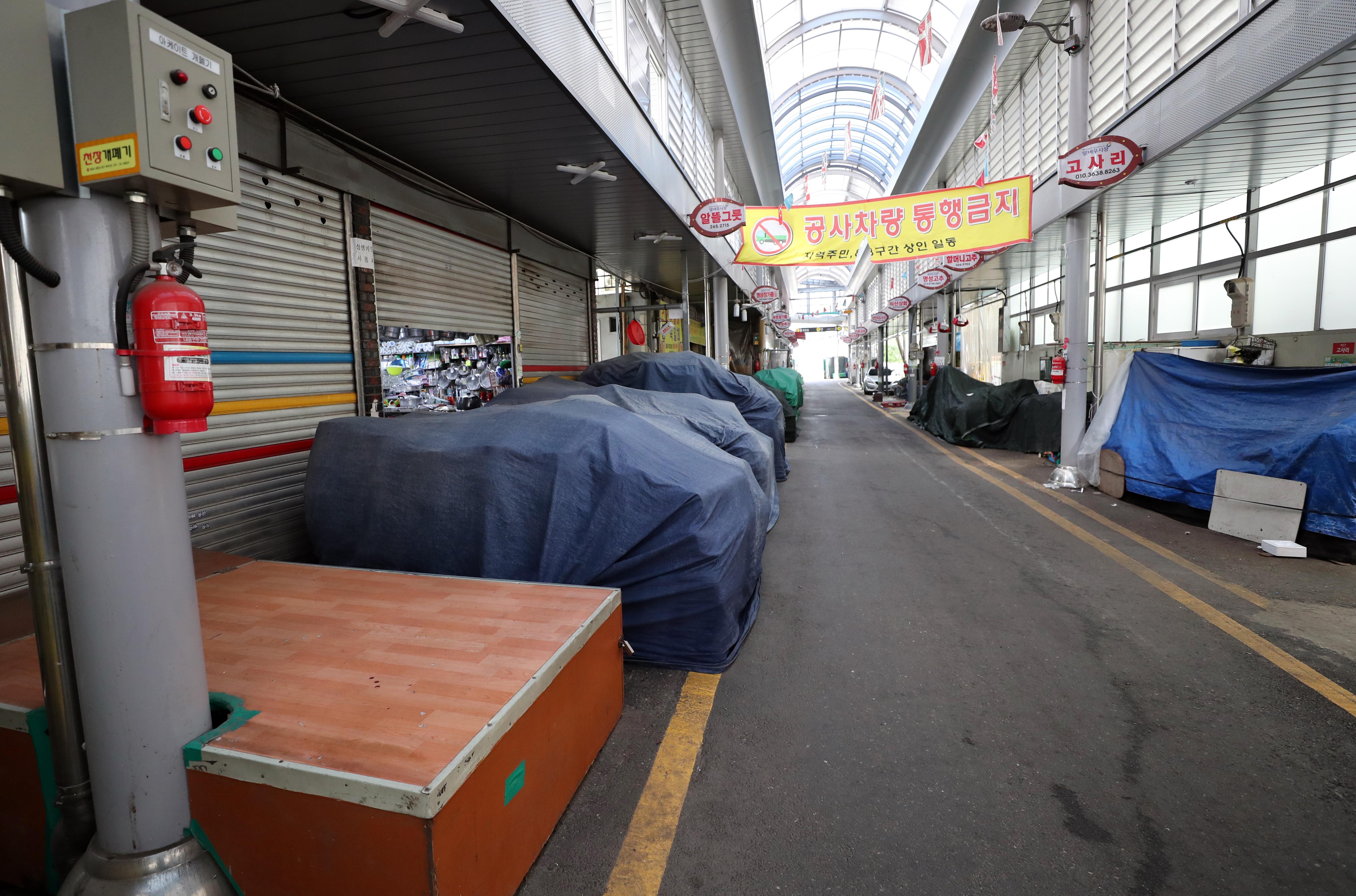 ▲▼光州市北區傳統市場內的餐廳出現群聚感染。(圖/達志影像)