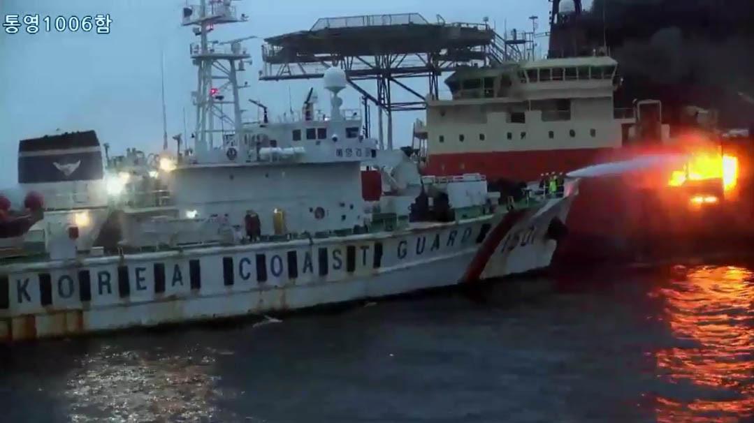 ▲▼南韓慶尚南道統營外海凌晨發生火燒船事故。(圖/達志影像)