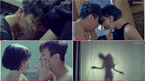 佳仁《FxxK U》在MV當中和朱智勳太過激情,被列為19禁MV。(圖/翻攝自YouTube)