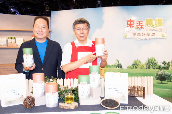 ▲▼柯文哲上東購銷售文山包種茶,王令麟             。(圖/記者徐文彬攝)
