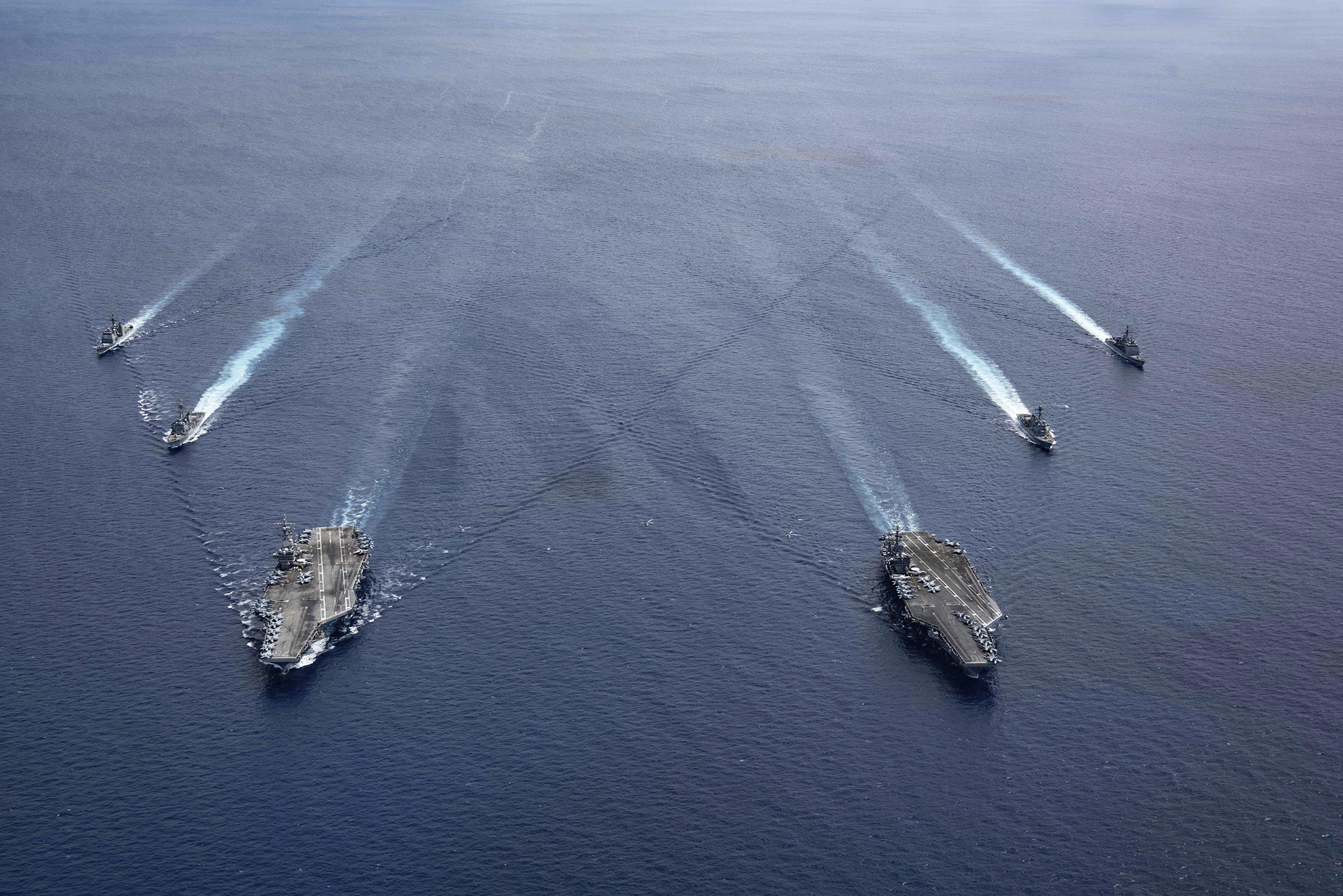 印太司令部,第一島鏈,美中關係,拜登,自由航行,第一艦隊,第七艦隊