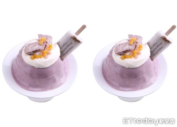 芋泥瀑布尬起司乳酪!鮮芋仙「芋神冰」新登場 還放了整支仙草冰棒 | ET