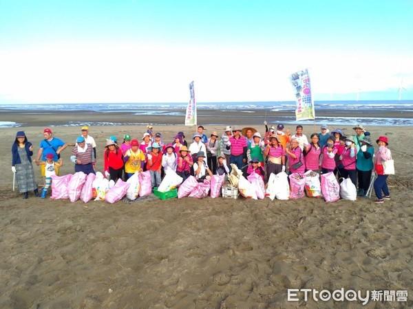 竹南「長青之森」淨灘全社區總動員 2小時清出200公斤垃圾 | ETto