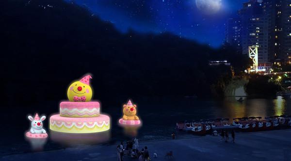 碧潭「幾米月亮」躺在15公尺蛋糕上!中秋最療癒地景28日起陪你許願 |