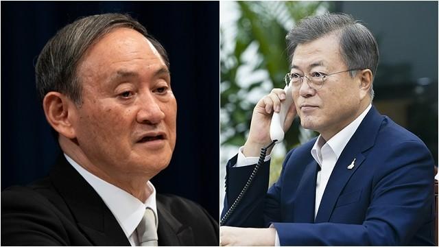 ▲▼日本首相菅義偉擬於24日上午與南韓總統文在寅通話。(圖/路透社、達志影像)