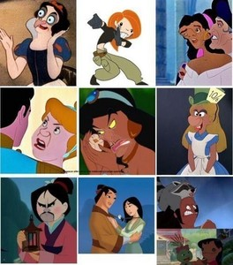 當迪士尼人物大換臉,簡直太可怕!