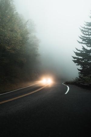 ▲開車,濃霧,山(示意圖/取自免費圖庫Pexels)