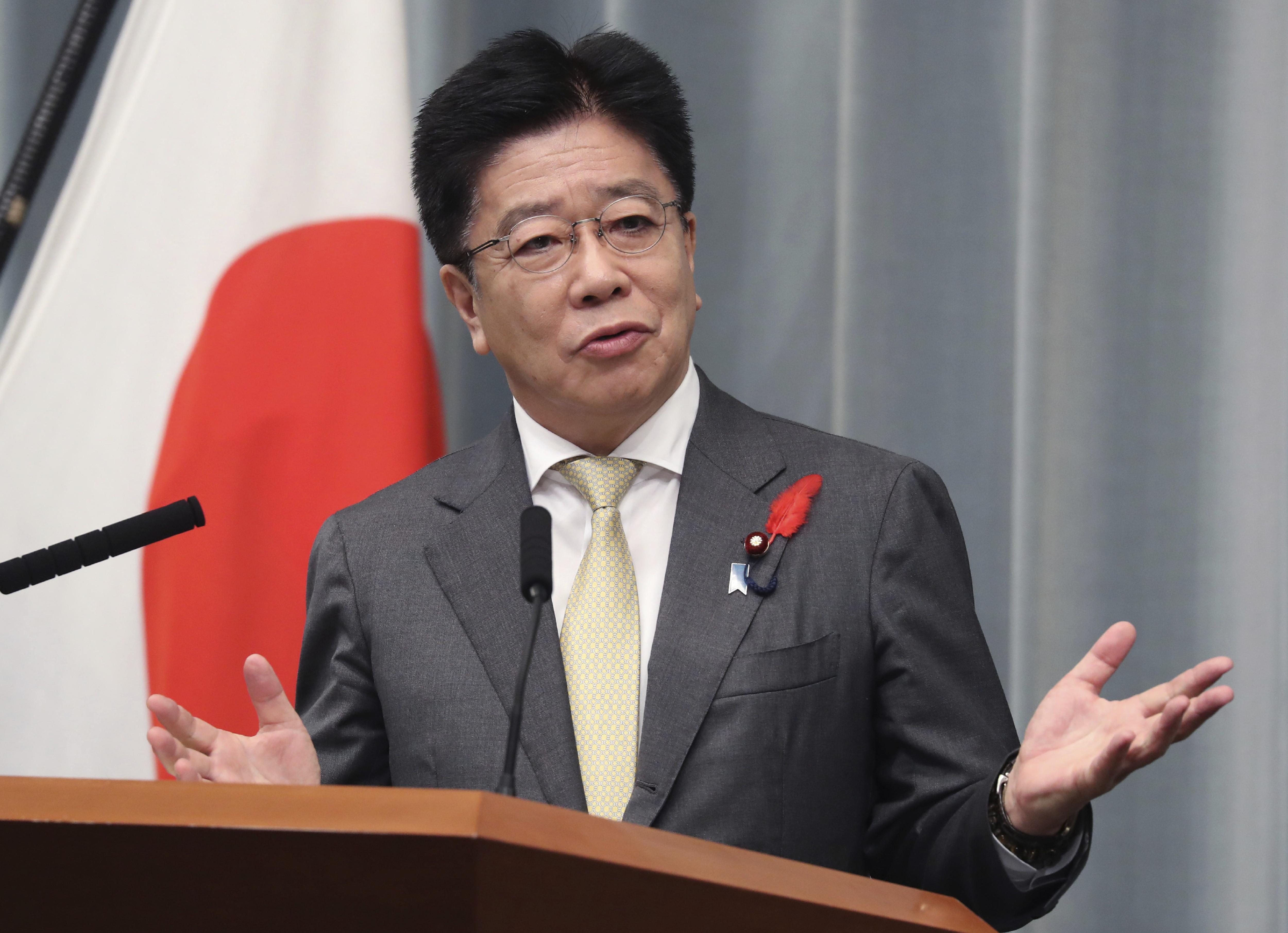▲▼日本內閣官房長官加藤勝信在記者會上稱無法接受北韓說法。(圖/達志影像/美聯社)