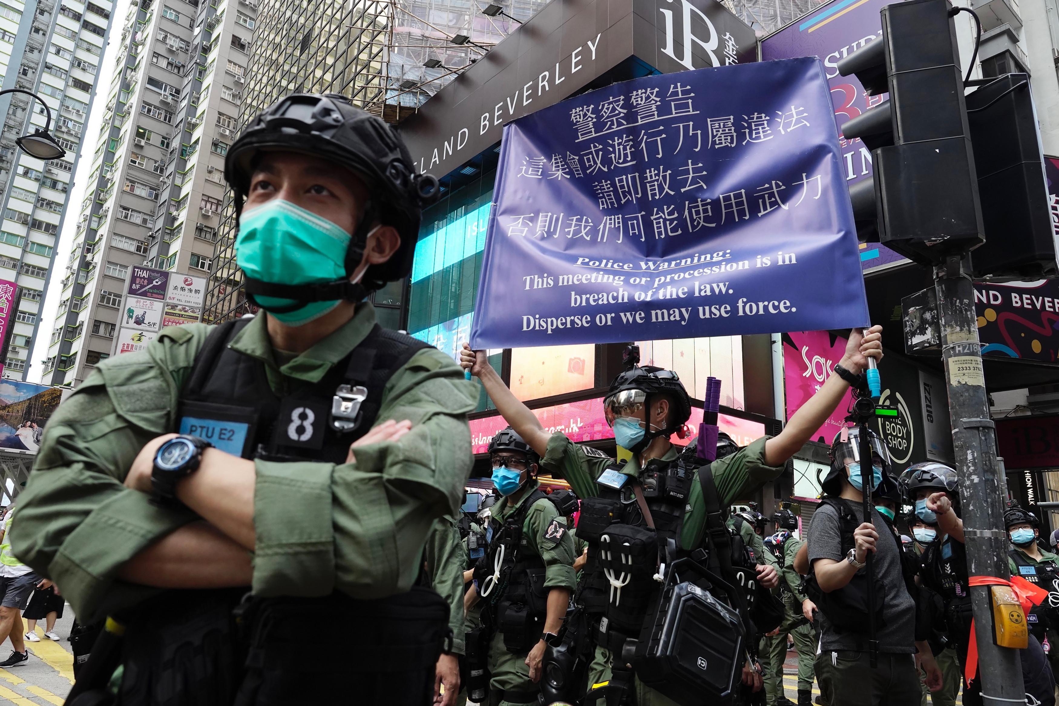 ▲▼香港警方逮捕集會參與者,美國務院表示憤慨。(圖/達志影像/美聯社)