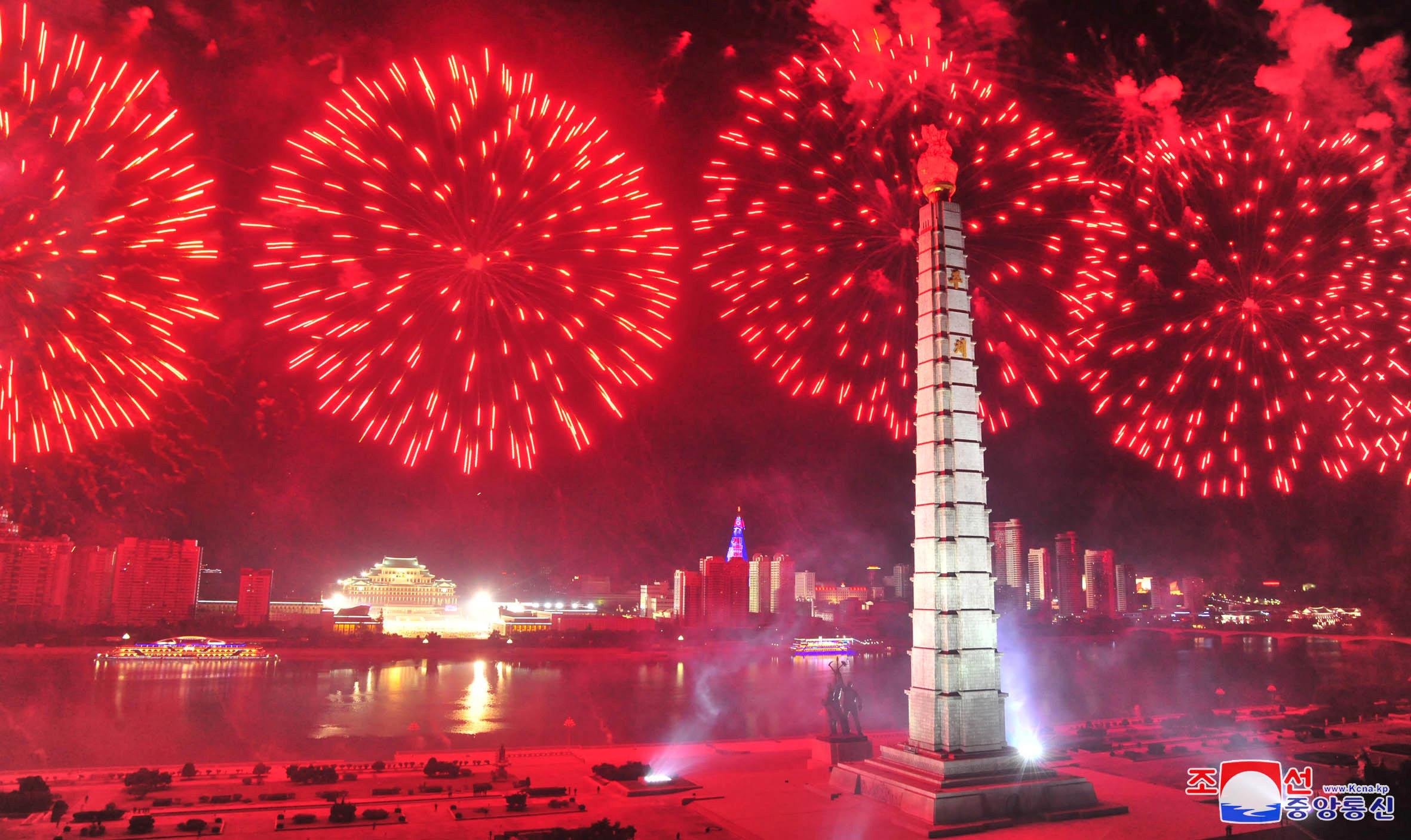 ▲▼北韓舉國歡慶勞動黨成立75周年。(圖/路透社)