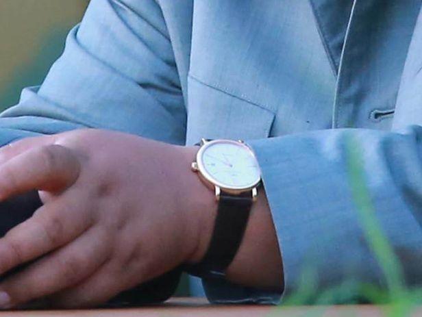 ▲▼金正恩過去也曾在公開場合配戴瑞士名錶。(圖/翻攝自朝鮮中央電視台)