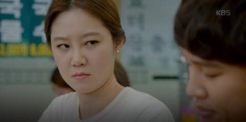 ▲南韓明星示範生氣愛瞪眼。(圖/翻攝自KBS)